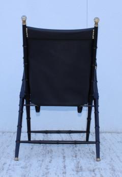 Maison Jansen Maison Jansen Style Campaign Leather Chair - 1156301
