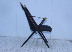 Maison Jansen Maison Jansen Style Campaign Leather Chair - 1156302