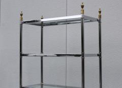 Maison Jansen Maison Jansen Style Chrome And Brass Etagere - 1150355
