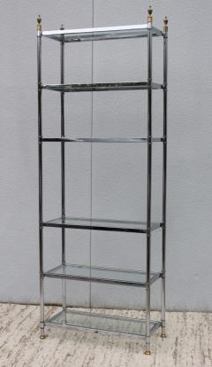 Maison Jansen Maison Jansen Style Chrome And Brass Etagere - 1150358