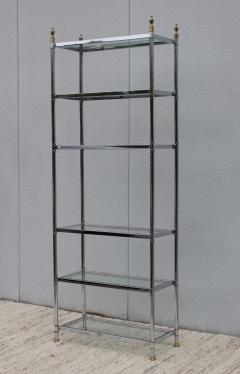 Maison Jansen Maison Jansen Style Chrome And Brass Etagere - 1150361