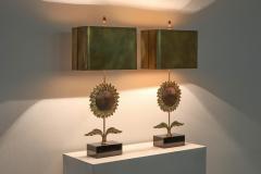 Maison Jansen Maison Jansen Sunflower Pair of Lamps 1970s - 1691677