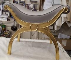 Maison Jansen Maison Jansen chicest gold leaf x shaped stools - 1017791