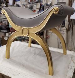 Maison Jansen Maison Jansen chicest gold leaf x shaped stools - 1017803