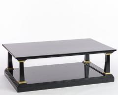 Maison Jansen Maison Jansen longest spectacular 2 tiers black and gold leaf coffee table - 1649164