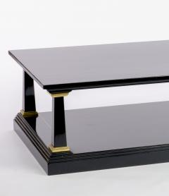 Maison Jansen Maison Jansen longest spectacular 2 tiers black and gold leaf coffee table - 1649166