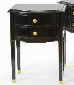 Maison Jansen Maison Jansen pair of black lacquered coffee table or side table - 878028