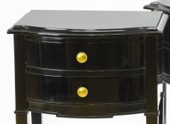 Maison Jansen Maison Jansen pair of black lacquered coffee table or side table - 878029