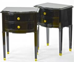 Maison Jansen Maison Jansen pair of black lacquered coffee table or side table - 878033
