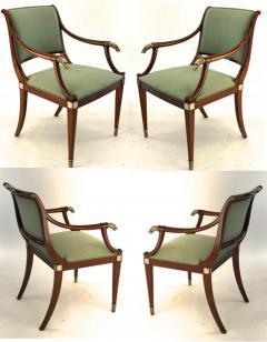 Maison Jansen Maison Jansen refine set of 4 silver greyhound arm chairs - 1519336