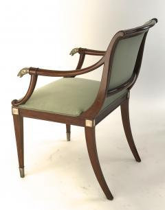 Maison Jansen Maison Jansen refine set of 4 silver greyhound arm chairs - 1519338