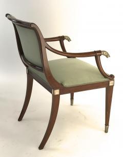 Maison Jansen Maison Jansen refine set of 4 silver greyhound arm chairs - 1519339