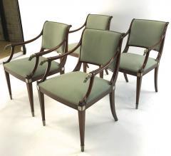 Maison Jansen Maison Jansen refine set of 4 silver greyhound arm chairs - 1519342