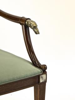 Maison Jansen Maison Jansen refine set of 4 silver greyhound arm chairs - 1519344