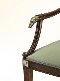 Maison Jansen Maison Jansen refine set of 4 silver greyhound arm chairs - 1519345