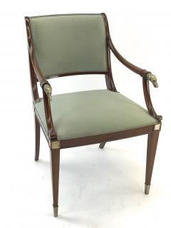 Maison Jansen Maison Jansen refine set of 4 silver greyhound arm chairs - 1519347