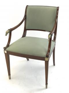 Maison Jansen Maison Jansen refine set of 4 silver greyhound arm chairs - 1519348