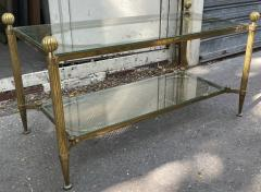 Maison Jansen Maison Jansen refined 2 tier large coffee table with gold bronze accent - 2142366