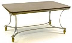 Maison Jansen Maison Jansen superb dinning table with metal base and bronze accent - 1525187