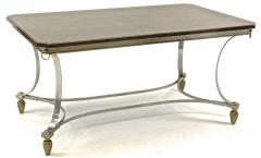 Maison Jansen Maison Jansen superb dinning table with metal base and bronze accent - 1525285