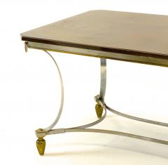 Maison Jansen Maison Jansen superb dinning table with metal base and bronze accent - 1525288