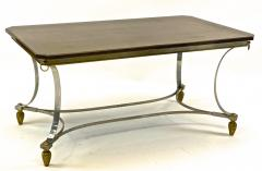 Maison Jansen Maison Jansen superb dinning table with metal base and bronze accent - 1525332