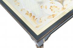 Maison Jansen Mid Century Ebonized Coffee Table with an glomis Top - 890810