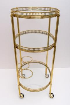 Maison Jansen Oval Brass Bar Cart - 976027