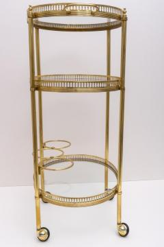 Maison Jansen Oval Brass Bar Cart - 976028