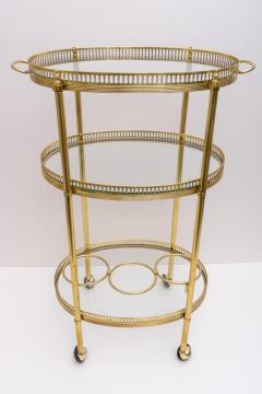 Maison Jansen Oval Brass Bar Cart - 976029