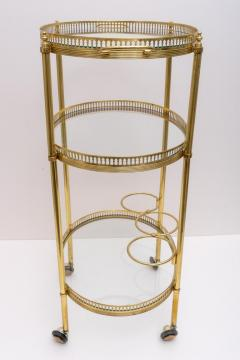 Maison Jansen Oval Brass Bar Cart - 976030