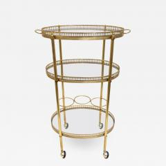 Maison Jansen Oval Brass Bar Cart - 976766