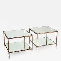 Maison Jansen PAIR OF BRONZE TWO TIER SIDE TABLES IN THE MANNER OF MAISON JANSEN - 1912024