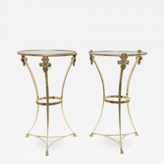 Maison Jansen Pair of Brass Side Tables - 976762