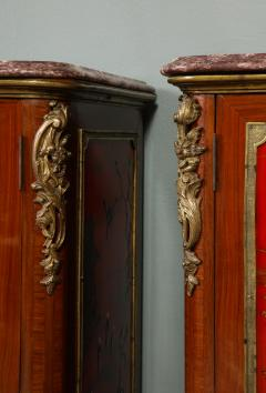 Maison Jansen Pair of French 1940s Transitional Style Red Chinoiserie Cabinets - 1116613