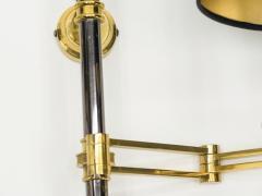 Maison Jansen Pair of Maison Jansen metal brass Retractable wing Sconces 1960s - 1083939