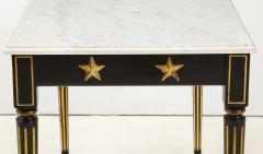 Maison Jansen Pair of Marble Topped Ebonized and Giltwood Consoles by Jansen - 1541797