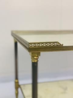 Maison Jansen Pair of Metal Maison Jansen Coffee Tables with Antique Mirrored Glass  - 2066590