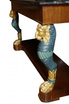 Maison Jansen Pair of Mid 20th Century Regency Style Console Tables with Gilt Monopedia - 516757