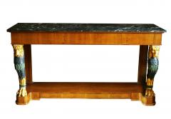Maison Jansen Pair of Mid 20th Century Regency Style Console Tables with Gilt Monopedia - 516760