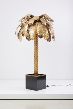 Maison Jansen Pair of Very Impressive Brass Palm Floor Lamps by Maison Jansen - 1188182