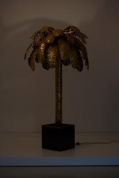 Maison Jansen Pair of Very Impressive Brass Palm Floor Lamps by Maison Jansen - 1188184