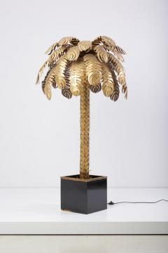 Maison Jansen Pair of Very Impressive Brass Palm Floor Lamps by Maison Jansen - 1188185