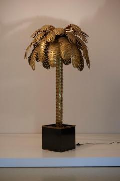 Maison Jansen Pair of Very Impressive Brass Palm Floor Lamps by Maison Jansen - 1188186