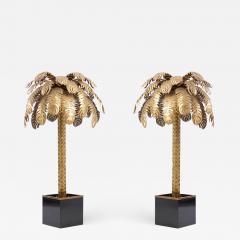 Maison Jansen Pair of Very Impressive Brass Palm Floor Lamps by Maison Jansen - 1190667