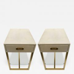 Maison Jansen Pair of gueridons end tables Guy Lefevre for Maison Jansen France 1970 - 1352784