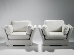 Maison Jansen Pair of large Hollywood Regency Maison Jansen armchairs 1960s - 985702