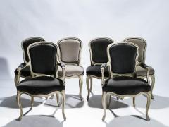 Maison Jansen Rare Set of Six Stamped Maison Jansen Louis XV Chairs and Armchairs 1940s - 1829978