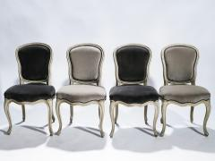 Maison Jansen Rare Set of Six Stamped Maison Jansen Louis XV Chairs and Armchairs 1940s - 1829979