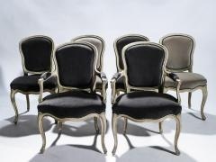 Maison Jansen Rare Set of Six Stamped Maison Jansen Louis XV Chairs and Armchairs 1940s - 1829981